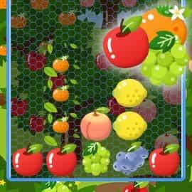 上から降ってくる果物を並べよう!