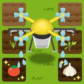 ドローンを操作して畑に水をあげよう!